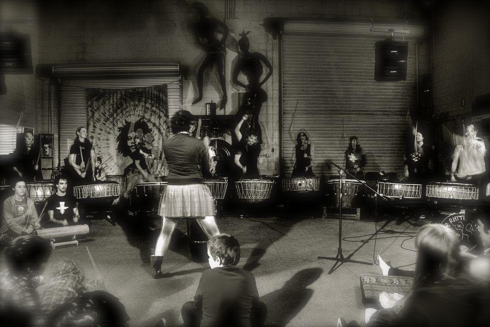 Photo in Black and White #taiko #music #drumming #beats