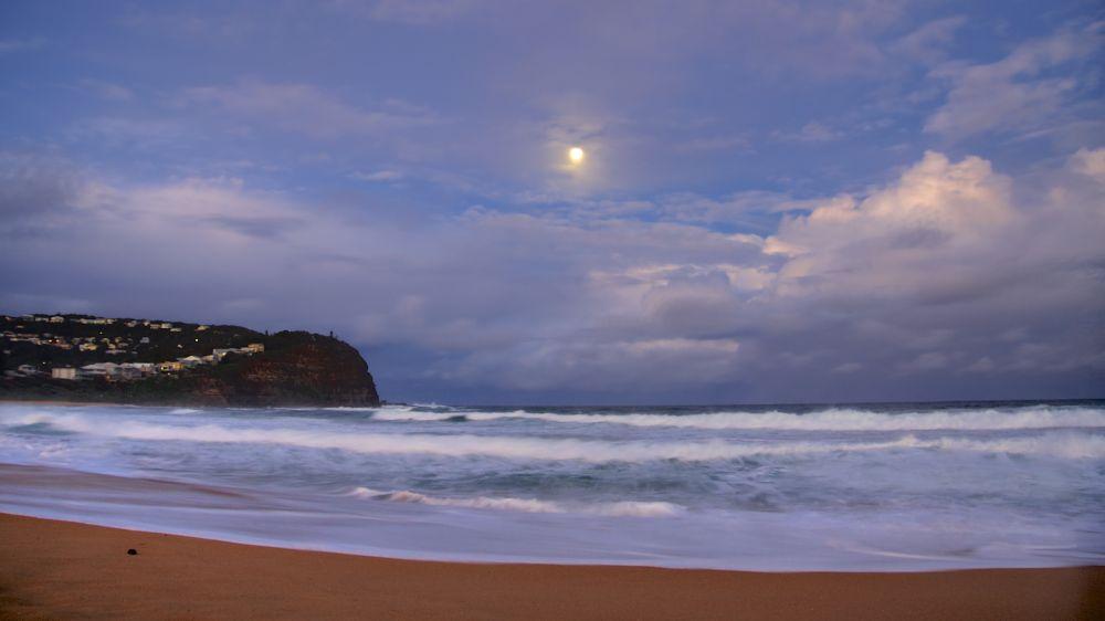 Photo in Sea and Sand #super moon #seascape #ocean #australia #nsw #beach #night time #moon #full moon