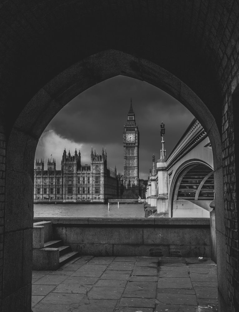 Photo in Black and White #westminster #london #big ben #houses of parliament