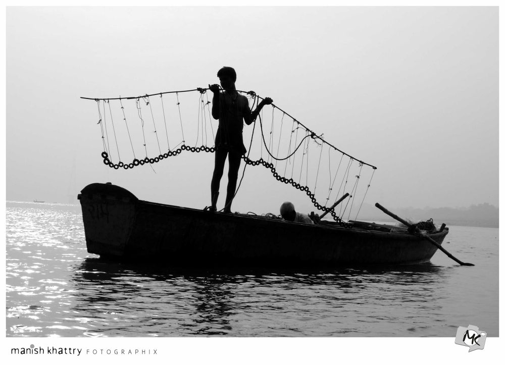 Photo in Random #jump ganges india child f