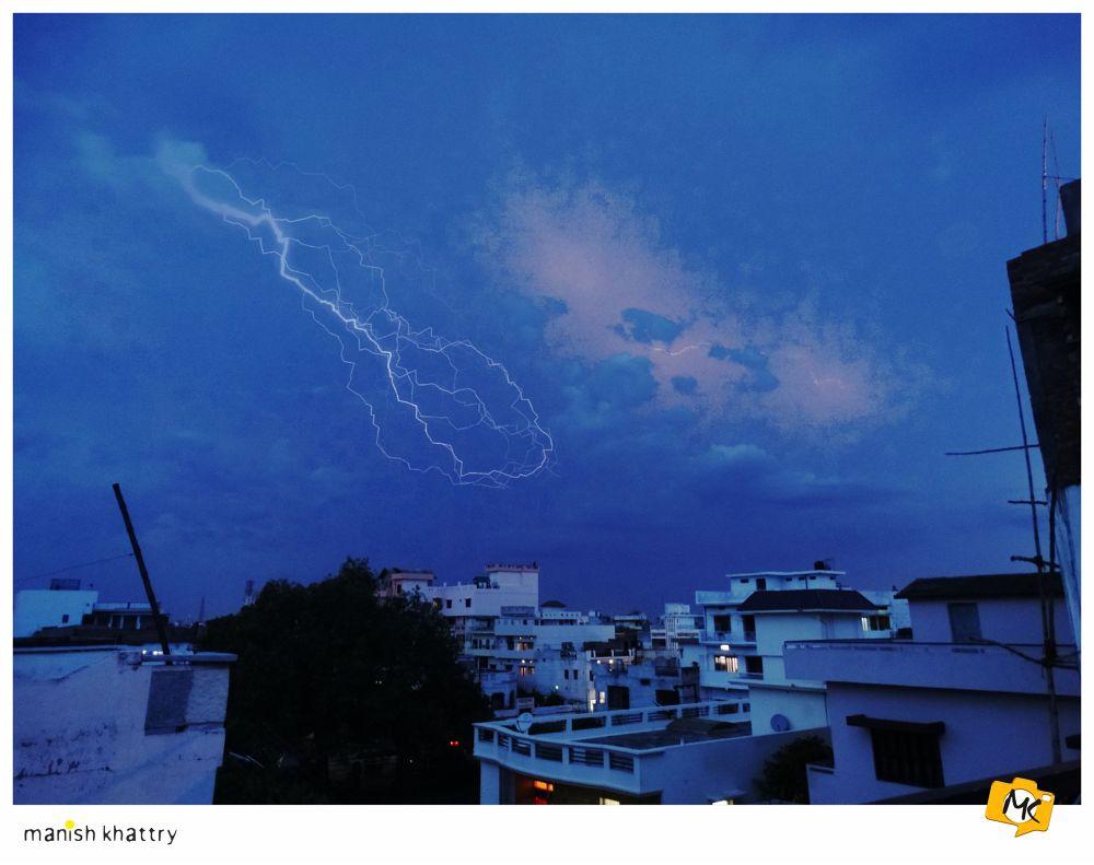Photo in Random #manish khattry #lightning #rain #monsoon #classic