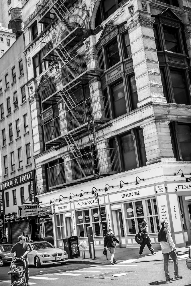 Photo in Black and White #people #walking #corner