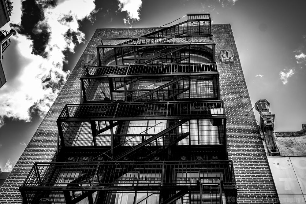 Photo in Black and White #stairs #city