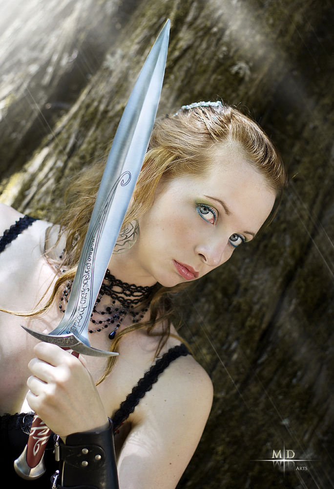 Photo in Random #girl #warrior #fantasy #sexy #glam #glamour #sword #frodo #lord of the rings #blade #steel #elf #elve #elven #forest #look #glance #glade #treee #sun #light #tree #wood #woods #black