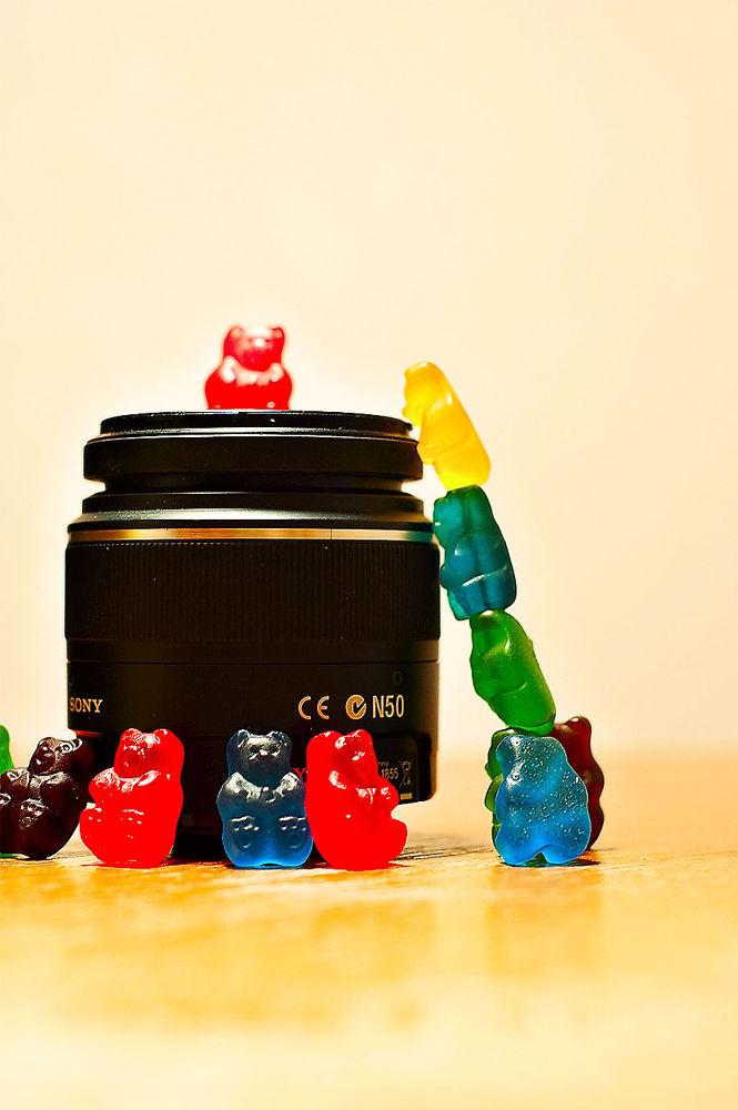 Photo in Random #gummy bears #lens #silly