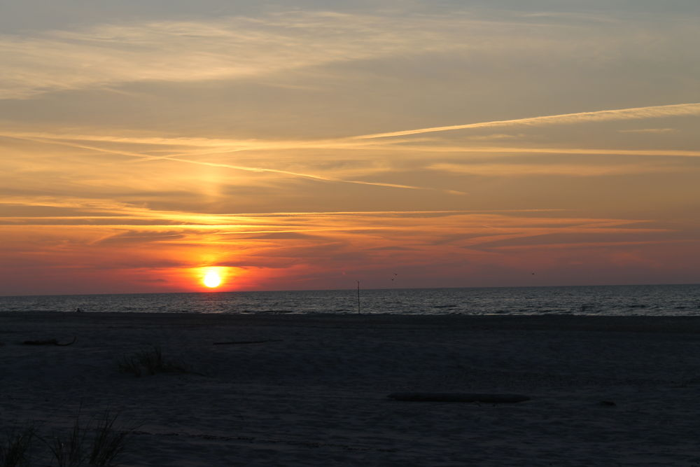 Photo in Sea and Sand #leba #polska #sea #beach #sunset