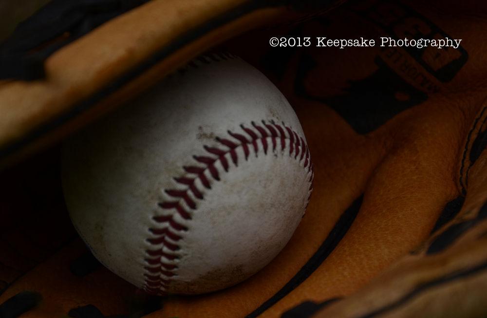 Photo in Sports #baseball #mitt #glove #ball #outside #summer #fun #games #game