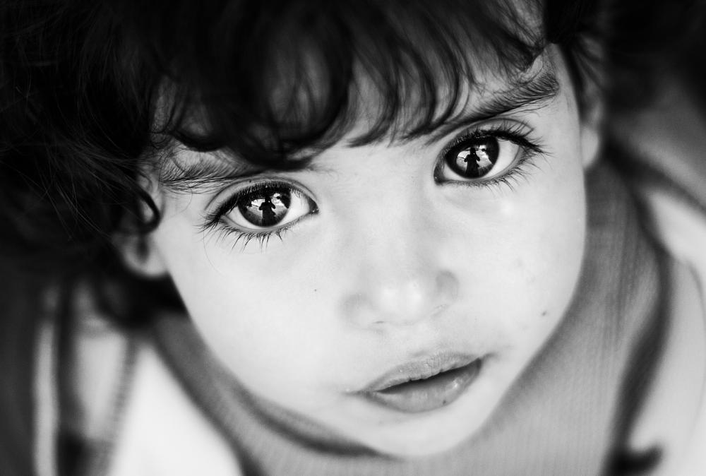 Photo in Black and White #face #soul #eyes #life #street #black and white #people #kid