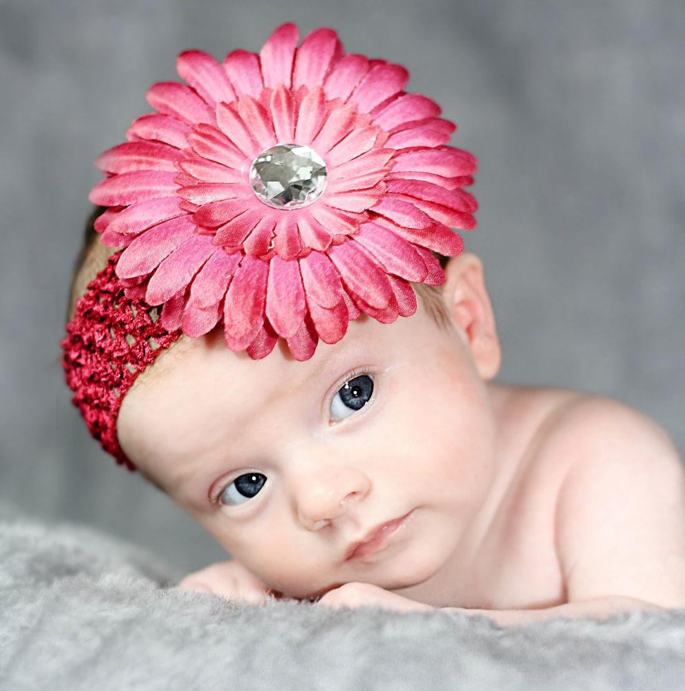 Photo in Portrait #newborn #baby #girl #headband #portrait