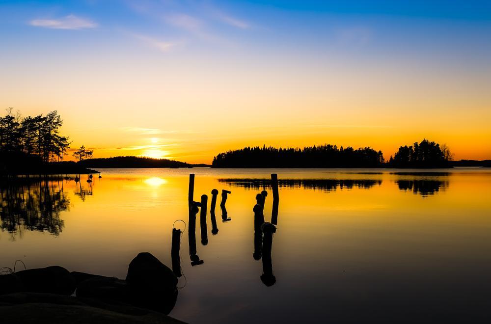 Photo in Landscape #sunset #finland #savonlinna #samsung nx1 #kontto #auringonlasku