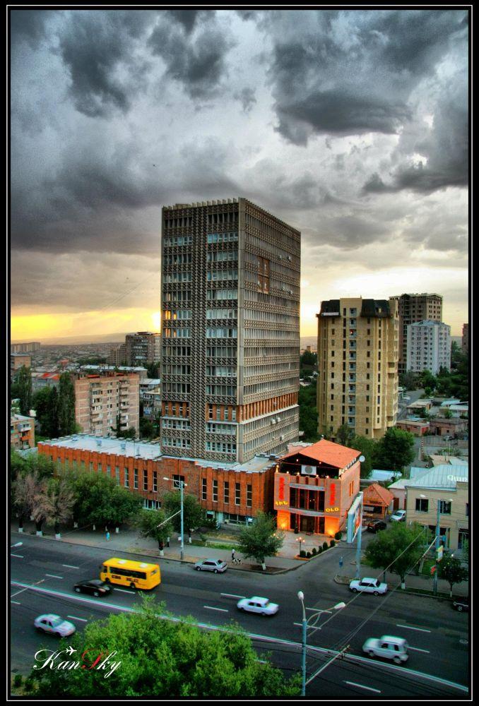 Photo in HDRI #yerevan #komitas street #geodesia institute building #armenia #hdr