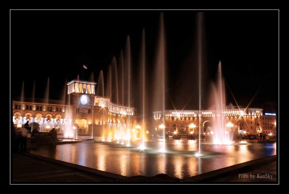 Photo in Cityscape #armenia #yerevan #republic square #night