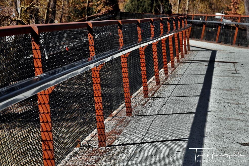 Photo in Rural #travel #winter #random #publicity #sun #light #shadow #bridge #reflection #fence #nikon