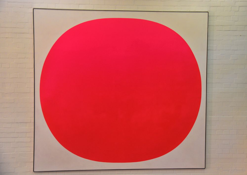 Photo in Fine Art #big #dot #red #colour #painting #fine art #product #modern #gallery #museum #indoor #available light #nikon #journalism #random #industrial