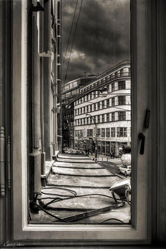 Photo in Street Photography #prague #window #narodni #czech #city