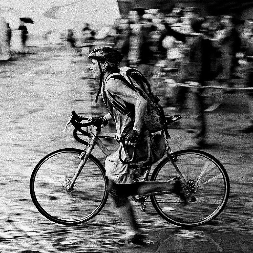 Photo in Sports #bicycle #messenger #mud #rain #ypa2013