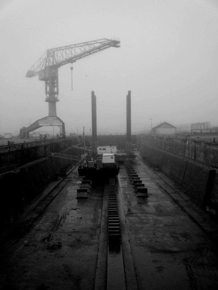 Photo in Random #black and white port water ind