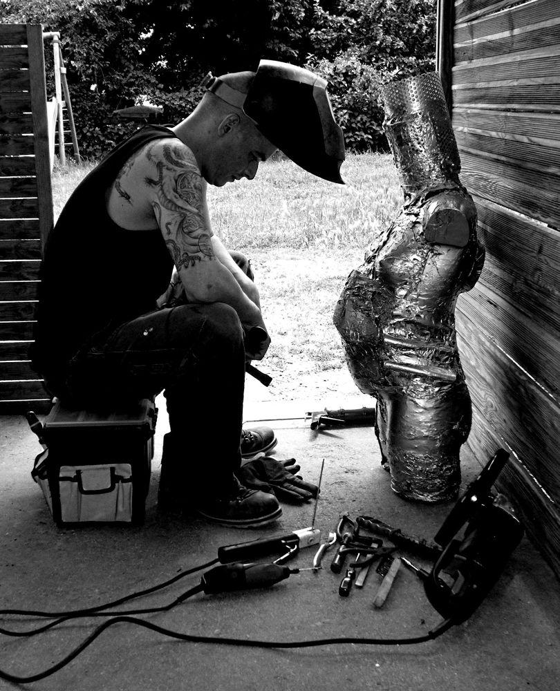 Photo in Random #black and white worker welder
