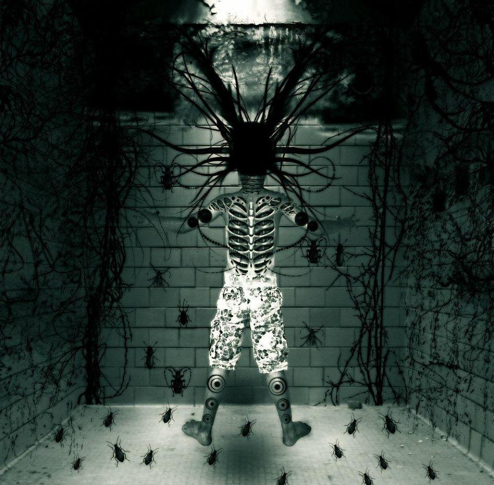 Photo in Random #dark strange cyborg photomonta