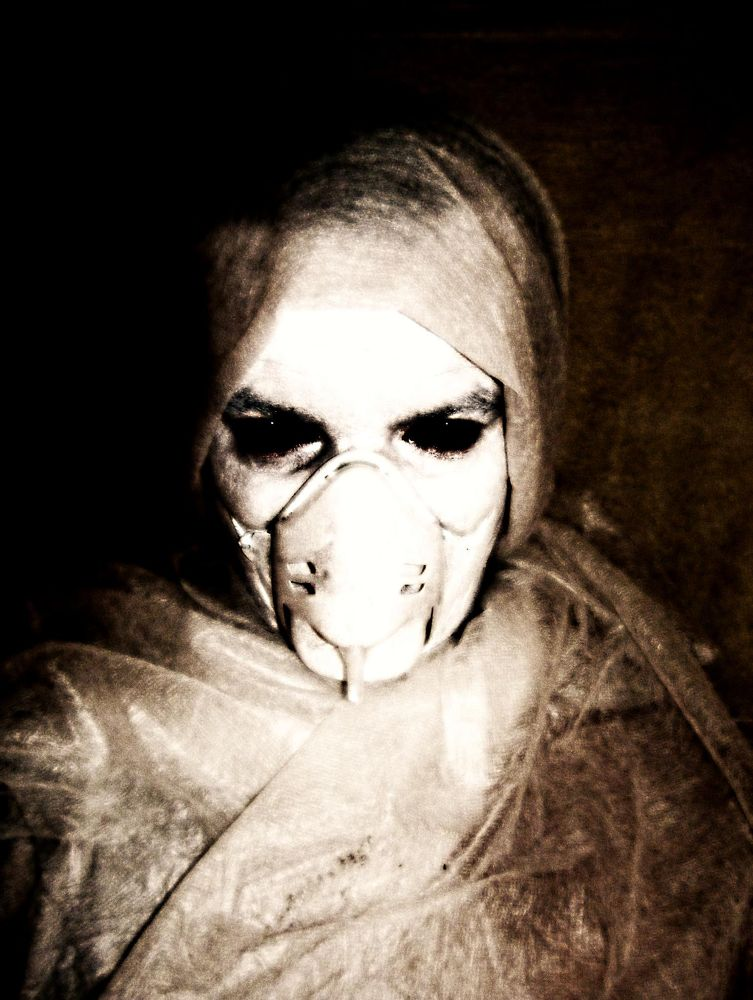 Photo in Random #selfportrait dark art mask sic