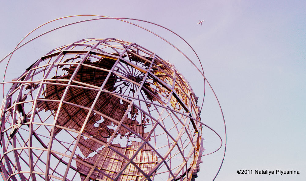 Photo in Abstract #globe #new york #queens #airplane #earth #sky #nature #architecture #art #sculpture