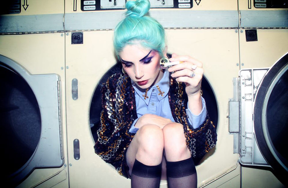 Photo in Fashion #christopher angelo spencer #evil eye cult #hannah liz #inverted cross #urban #witch #glitter #cunt #goth #wiccan #satan #dip dyed #unif #counter culture