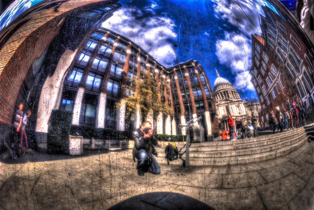 Photo in People #st.pauls #reflection #hdr #portrait #people #london