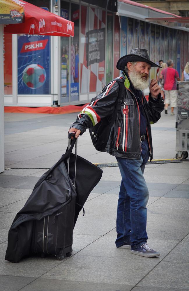 Photo in People #people #man #portrait #street #zagreb #city