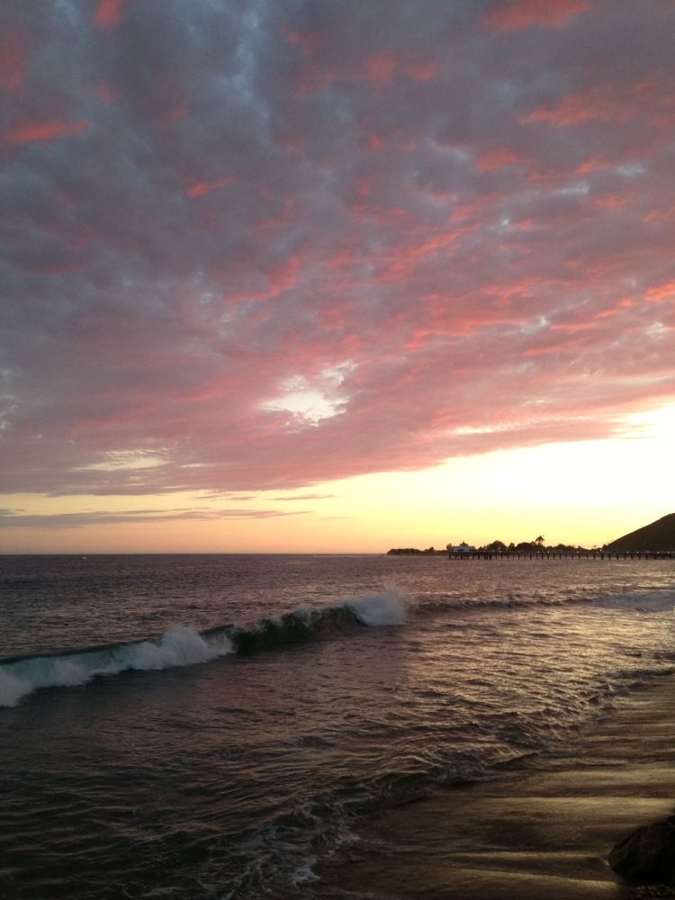 Photo in Sea and Sand #sunset wave malibu carbon