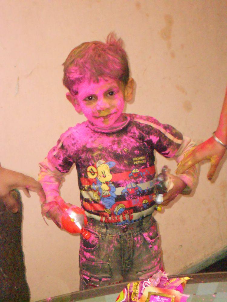 Photo in Random #holi boy #kid #boy