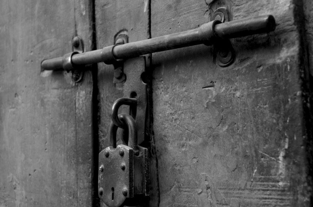Photo in Black and White #lock #locked #latch