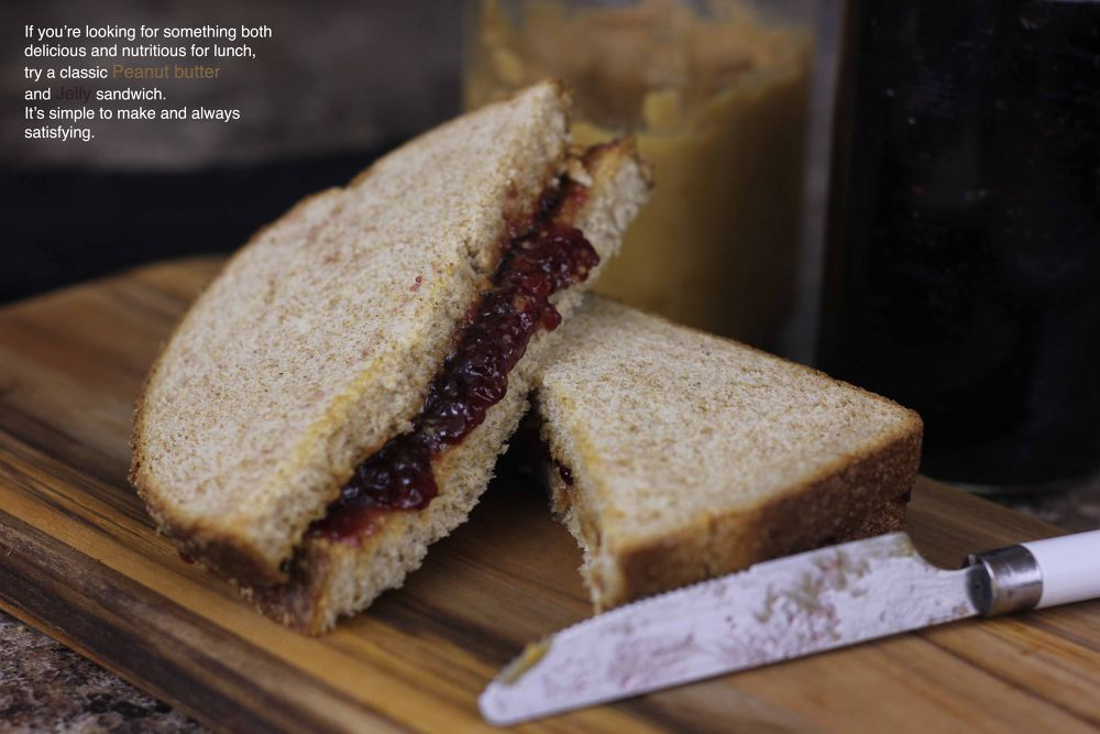 Photo in Food #food #peanut butter #jelly #sandwhich