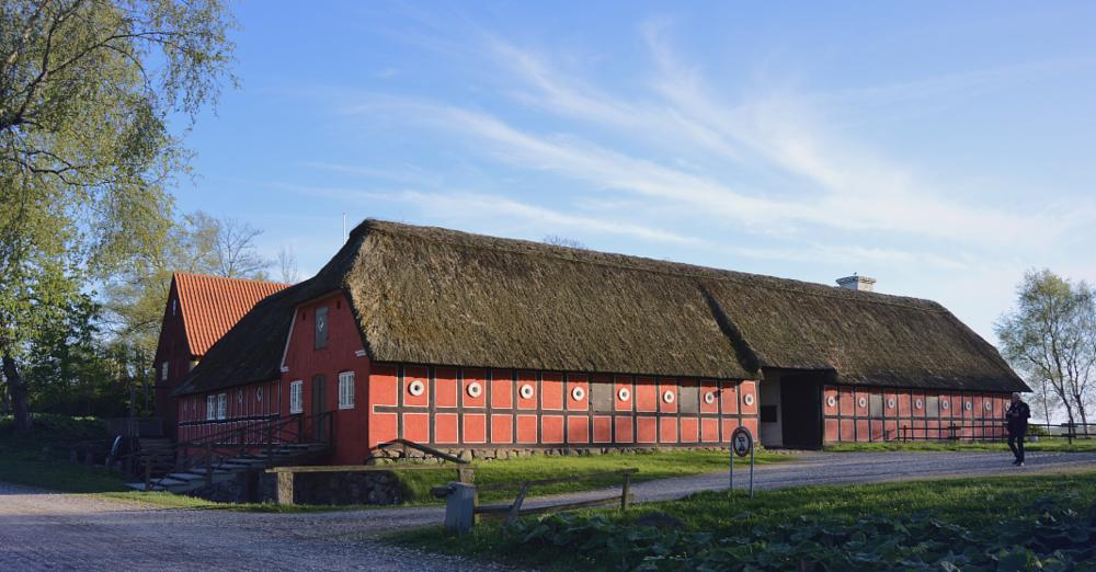 Photo in Architecture #thatched roof #stråtag #half-timbered #farmhouse