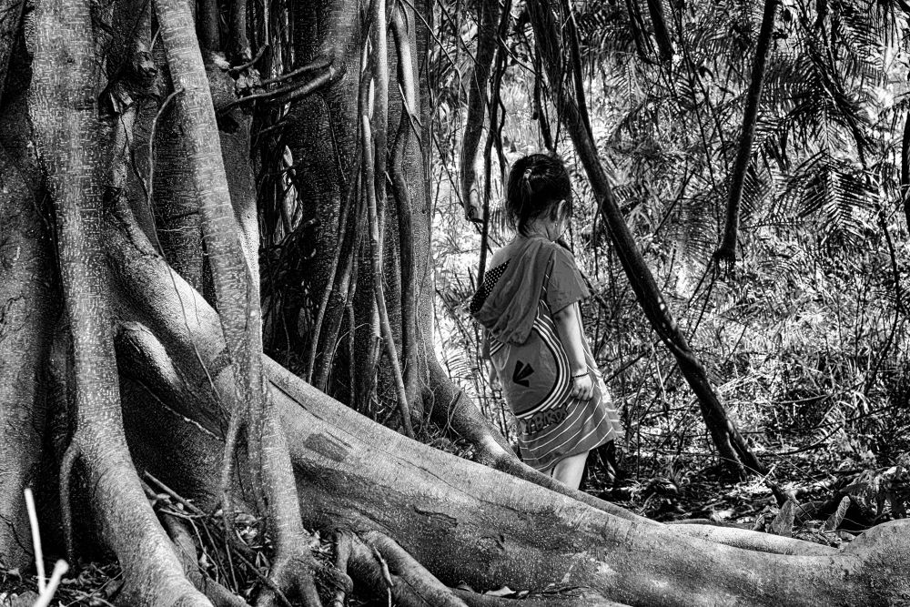 Photo in Black and White #black and white #adventure #kids