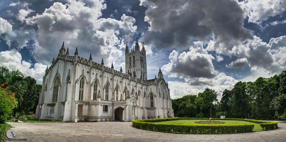 Photo in HDRI #city #kolkata #hdr #church #cathedral #sky #clouds