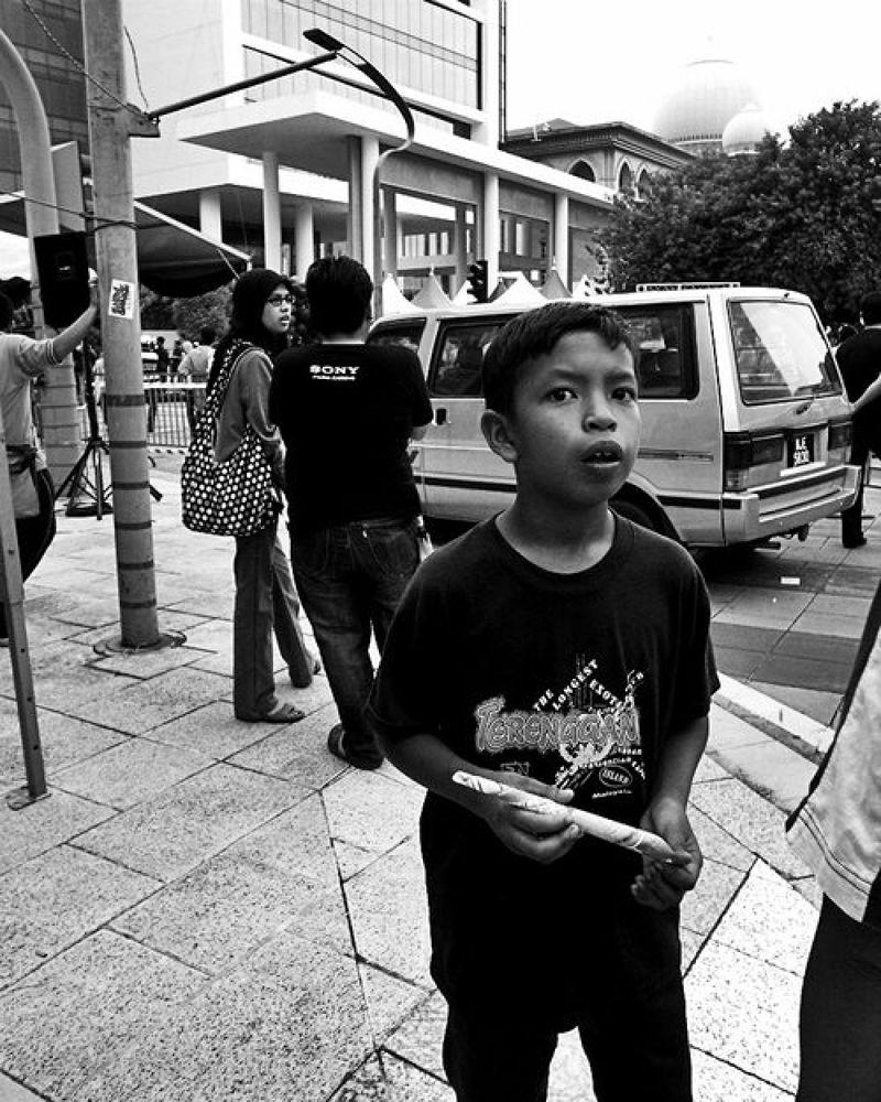 Photo in Street Photography #street photography #walks of life #black & white #monochrome #digital #putrajaya youth festival