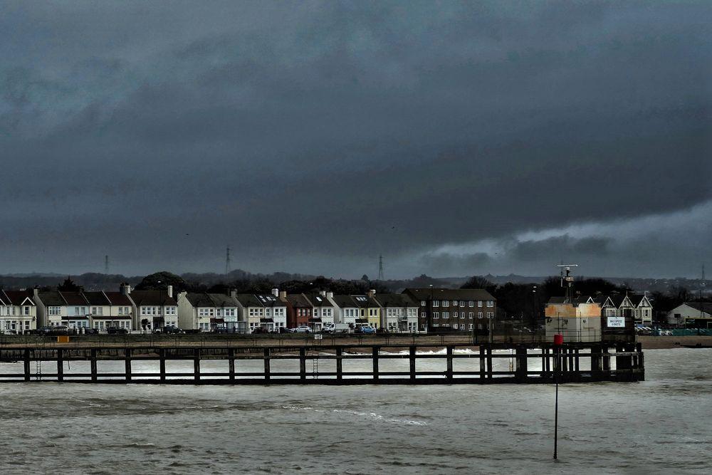 Photo in Random #stormy #dark skies #winter rain