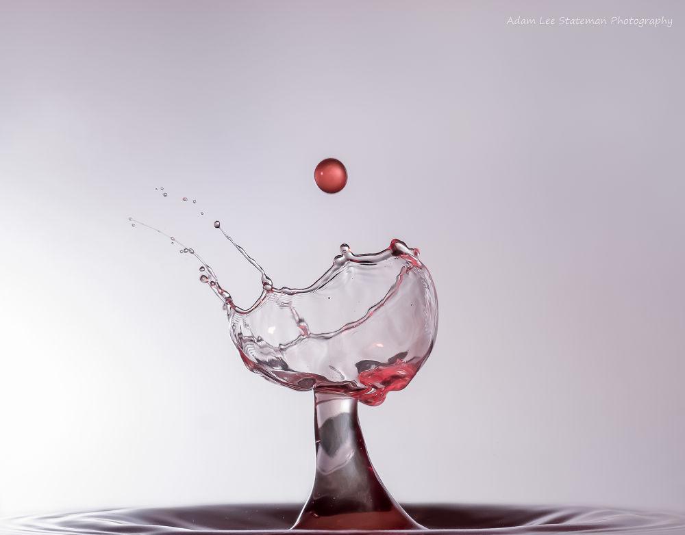 Photo in Macro #liquid art creations #drop #splash #water