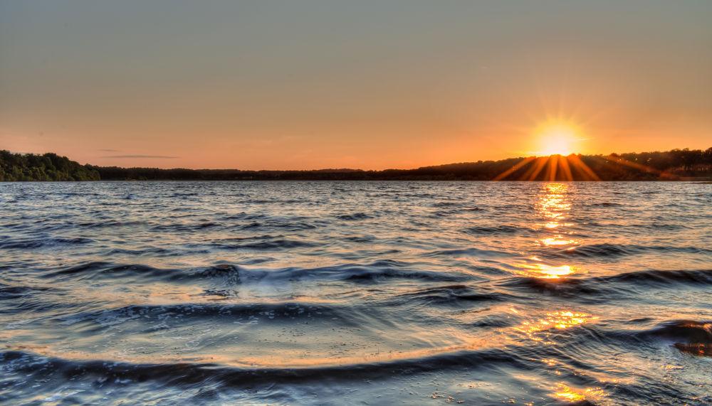 Photo in Landscape #liquid art creations #water #sunset