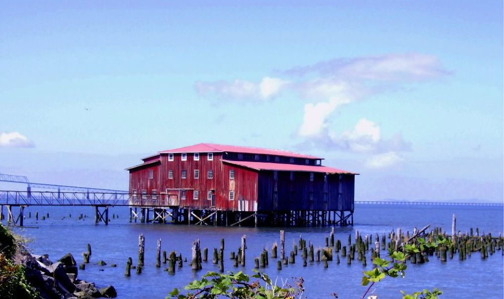 Photo in Landscape #cannery #columbia river #shoreline #astoria or #wharf