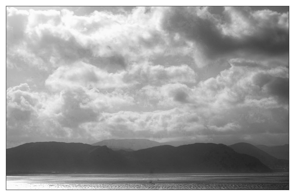 Photo in Landscape #colwyn #bay #llandudno #wales #fuji #finepix #ss300 #processed #on #snapspeed #app #landscape #black #and #white