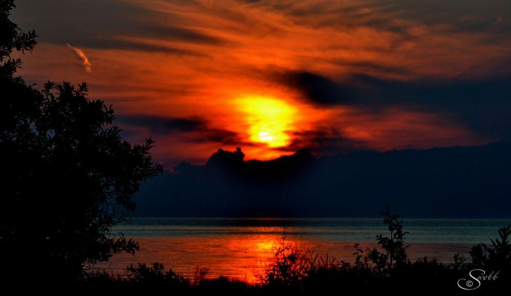 Photo in Random #sunset #rural #lake