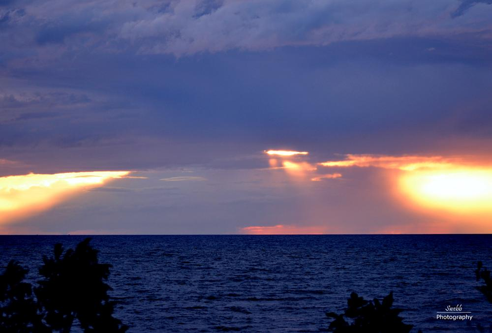 Photo in Landscape #lake huron #storm #sunset