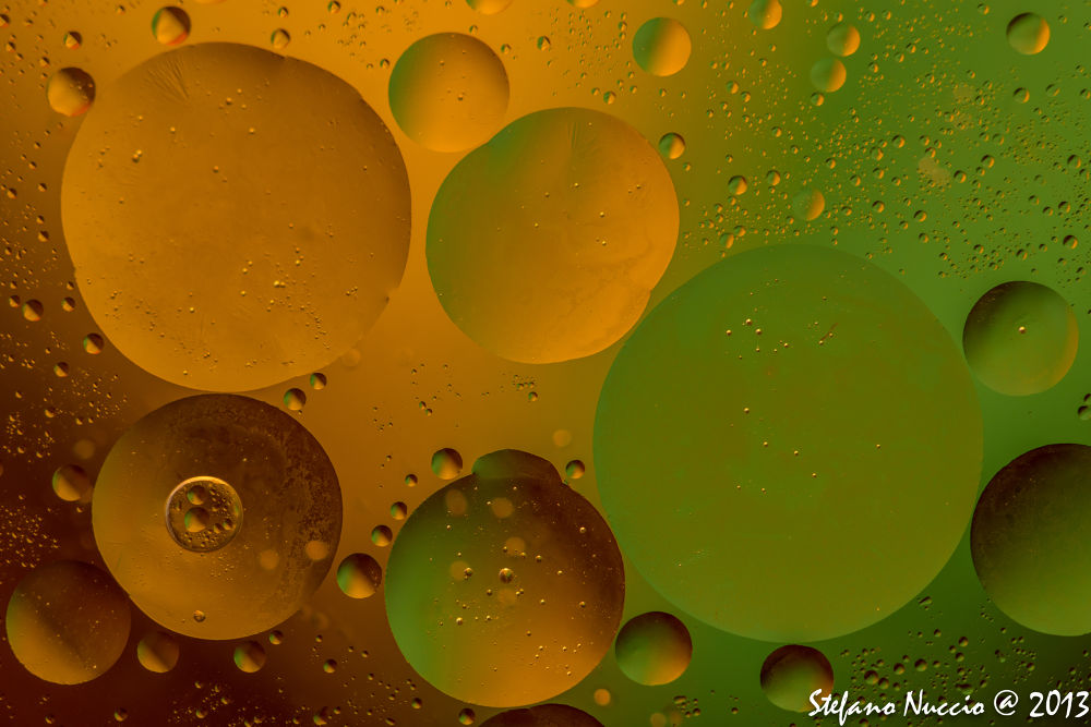 Photo in Abstract #ypa2013 #yellow #green #dark #orange #planets #bubble #bolle #pianeti