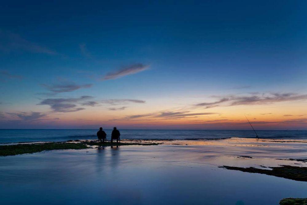 Photo in Landscape #sea #fisherman #sunset #tal flint