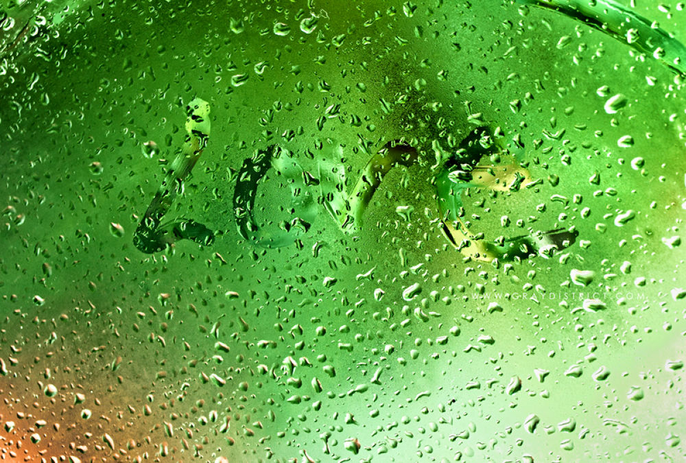 Photo in Abstract #raindrops #love #green #wet #mint
