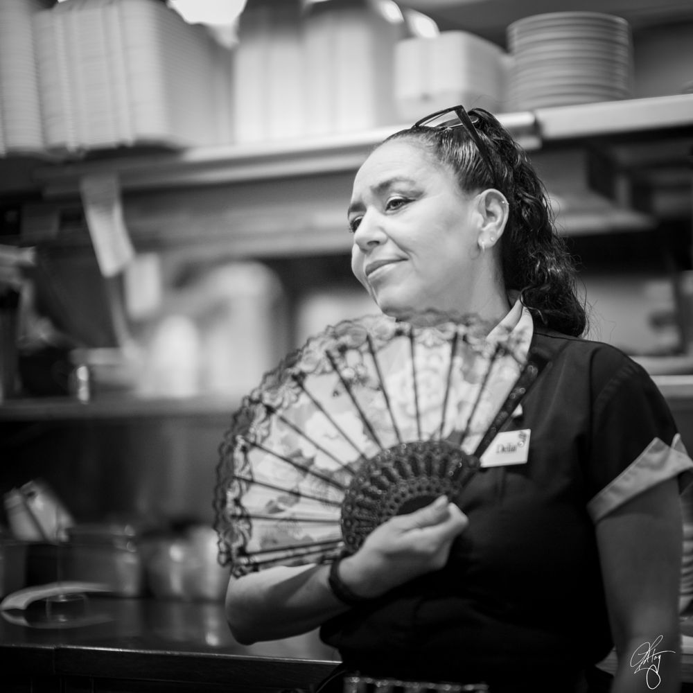 Photo in Black and White #people #portrait #black and white #travel #journalism #monochrome #leica #diner #food