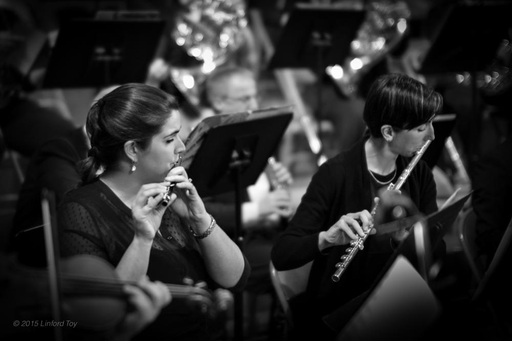 Photo in Black and White #piccolo #flute #musicians #music #orchestra #symphony #b&w #leica #monochrom #noctilux