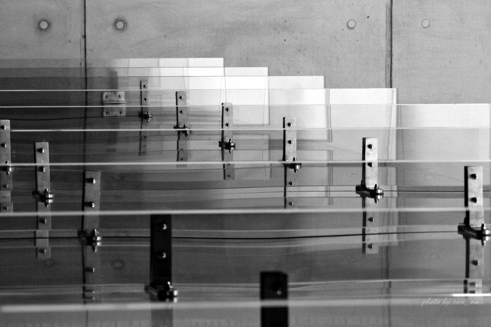 Photo in Black and White #abstract #glass #panneaux de verre #black&white