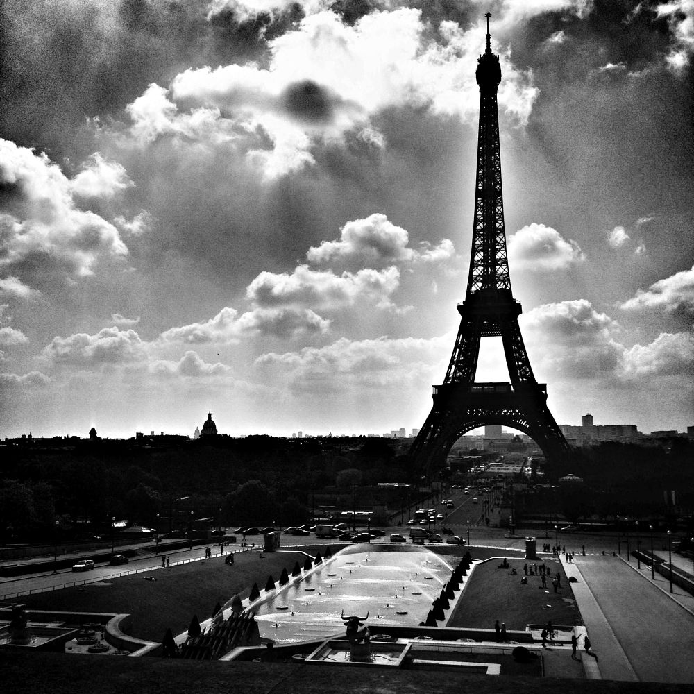 Photo in Landscape #paris #eiffel #mood #clouds #sky